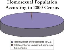Homosexual Population Pie Chart
